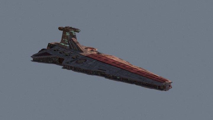 Venator Class StarDestroyer 3D Model