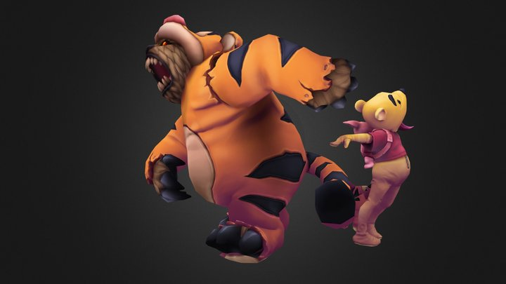 Annie the Pooh and Tibbers Too 3D Model