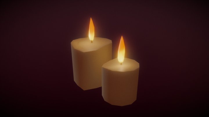 Candles - Household Props Challenge - Day 27 3D Model
