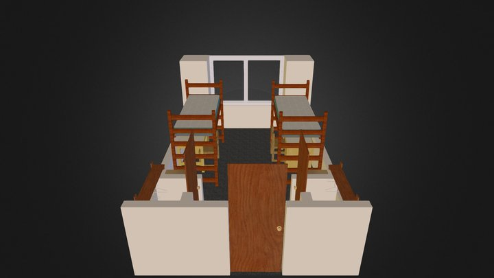 17th Ave Double Room 3D Model