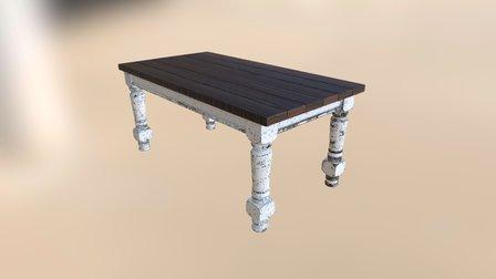 Husky farmhouse table 3D Model