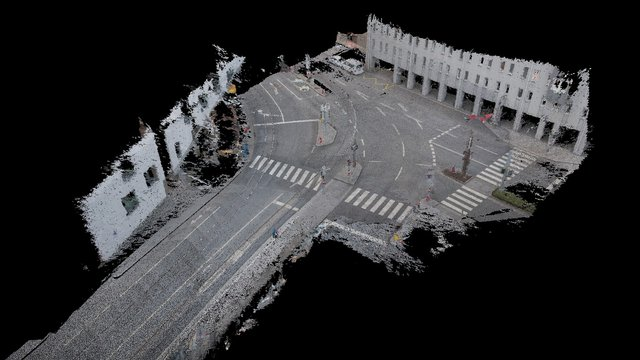 Crossing / Straßenkreuzung Unibrücke Innsbruck 3D Model