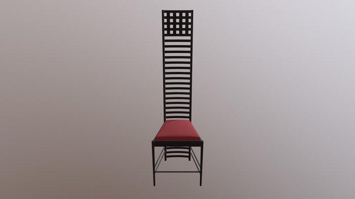 Hill House Chair By Charles Rennie Mackintosh 3D Model