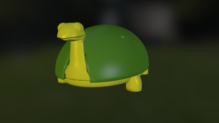Zoo Bot / Turtle A 3D Model