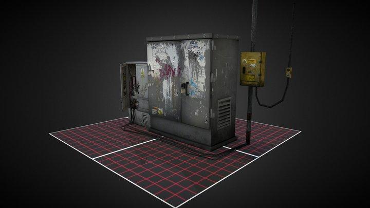 Electricity boxes 3D Model