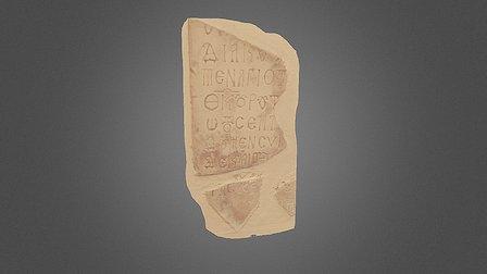 Epigrafe dal Museo Diocesano di Albano Laziale 3D Model