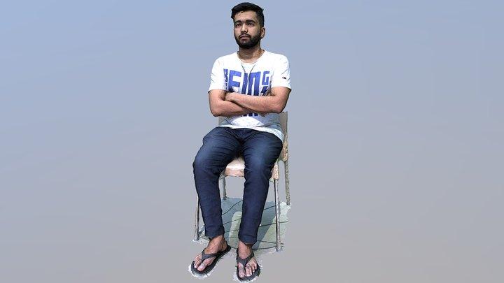 Saurav Sitting 3D Scan 3D Model