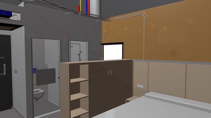 Onomo Hotel Room 3D Model
