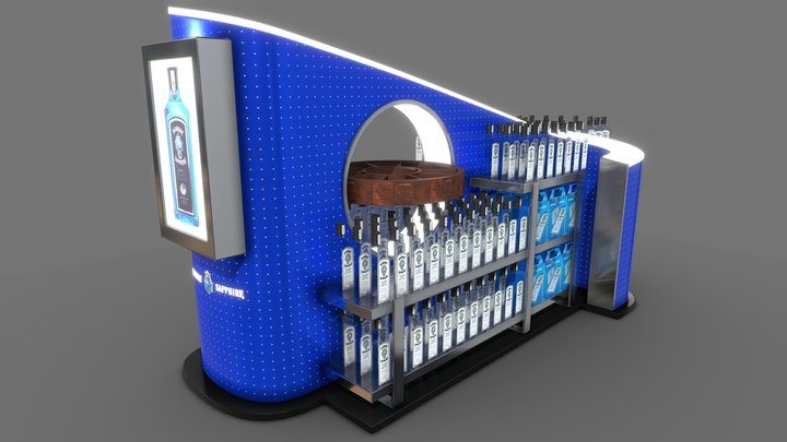 Bombay Sapphire Display 3D Model