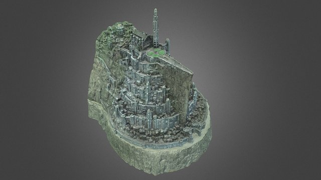 Scanned Minas Tirith Model (Lord of the Rings) 3D Model