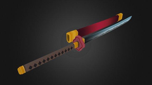 Samurai Sword 3D Model