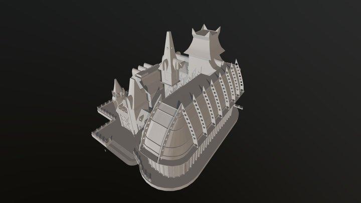 CityCitadelSteampunkScene 3D Model