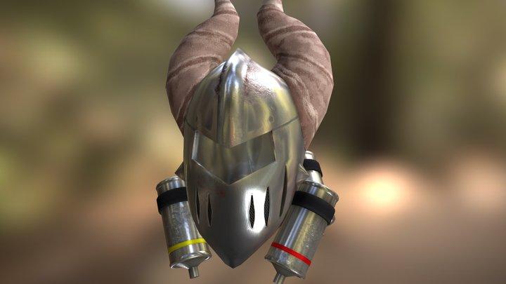 Textured helmet 3D Model