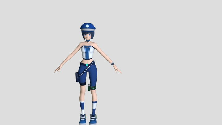 ANIMAE GIRL 3D Model