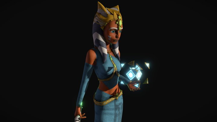 Ahsoka Tano Zygerrian Slave Disguise 3D Model
