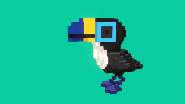 Voxel Toucan Dude 3D Model
