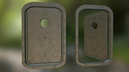 Naval Ship Door/Hatch 3D Model