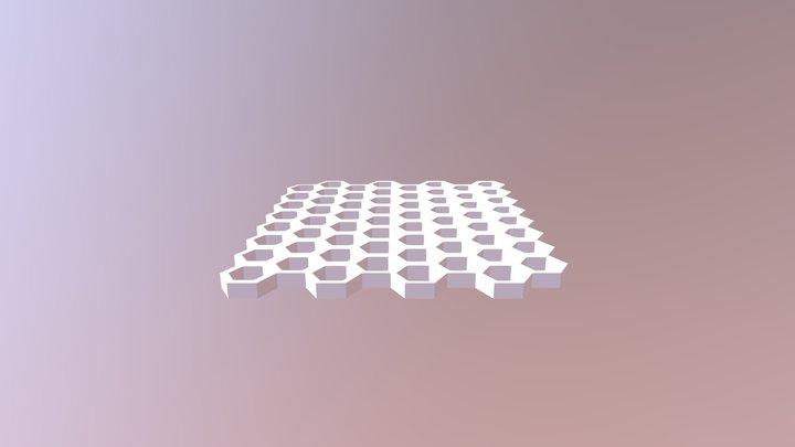 Exagon grid 3d printing 3D Model