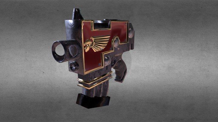 Bolter Pistol Fanart 3D Model