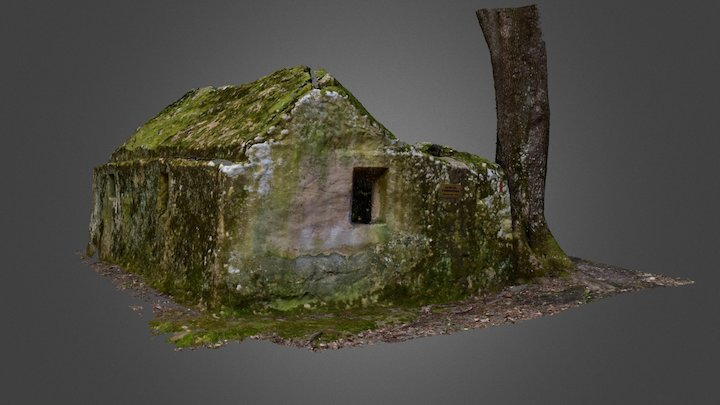 Ansamblul rupestru Bozioru: Fundatura 3D Model