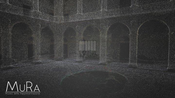 Cortile Palazzo Università,  Catania 3D Model
