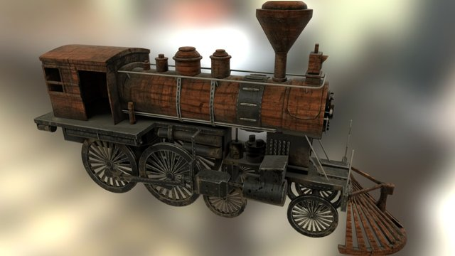 Old Mechanical Train 3D Model