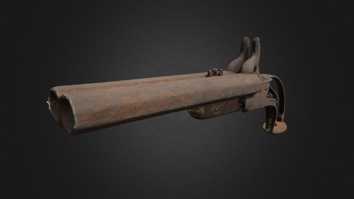 Pistola a fulminante de avancarga 1477/ 6-2128 3D Model