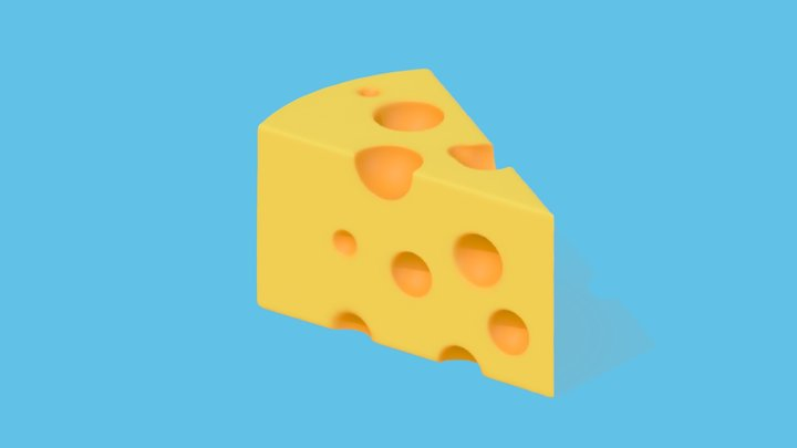 cheese wedge 3D Model