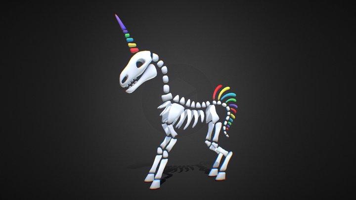 Skeleton Unicorn 3D Model