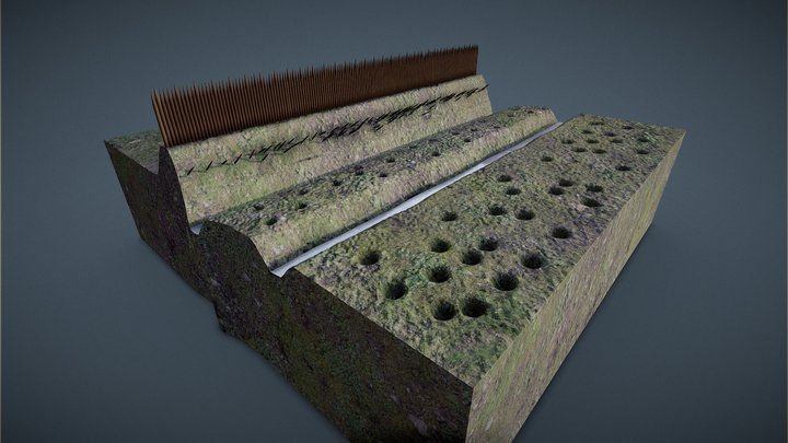 Roman fortification 3D Model