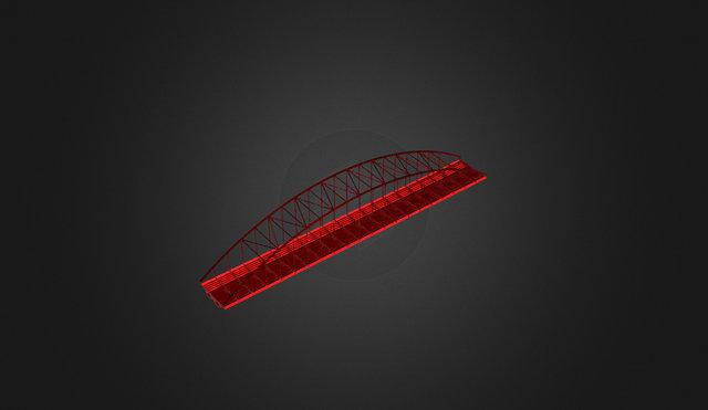 Puente Sobre El Rio Cabrera V2 3D Model