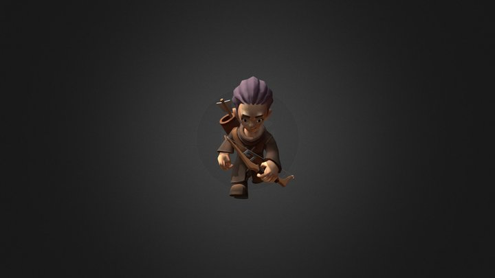 ArcherBow@run 3D Model