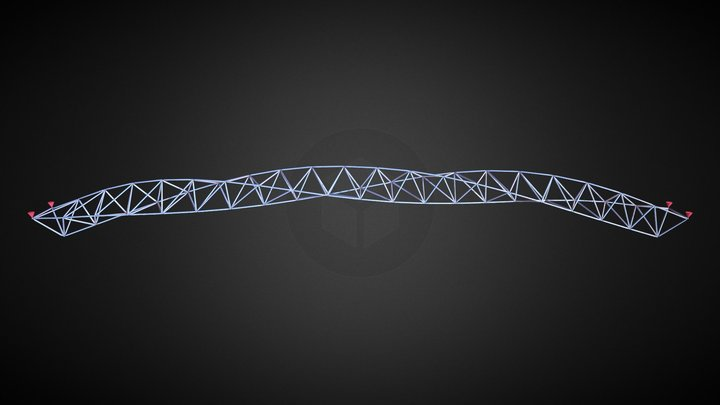 Twisting Arched Space Frame 3D Model