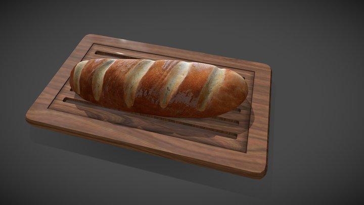 French Bread 3D Model