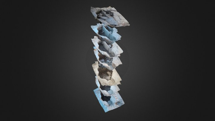 Stratigraphic sequence of a burial in a silo 3D Model
