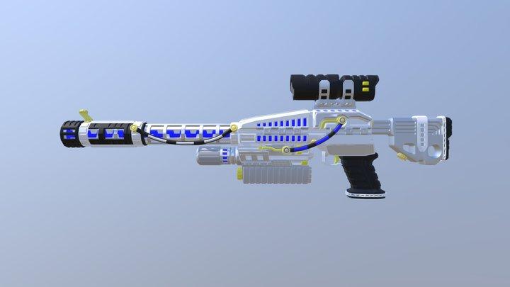 Energy Sniper Rifle v1 3D Model