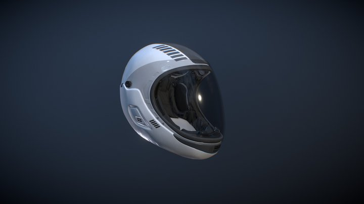 Skydiving Helmet 3D Model