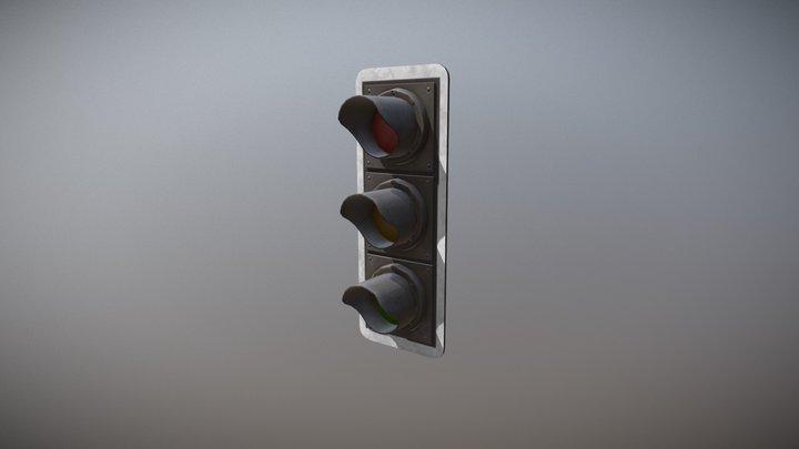 Traffic Light_UK_Lowpoly 3D Model