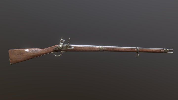 M1777 Flintlock - Charleville Musket 3D Model