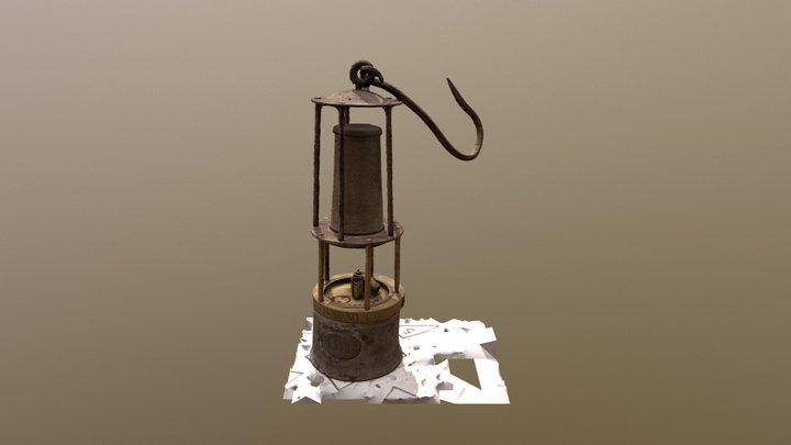 Alte Benzin Wetterlampe Friemann & Wolf Zwickau 3D Model