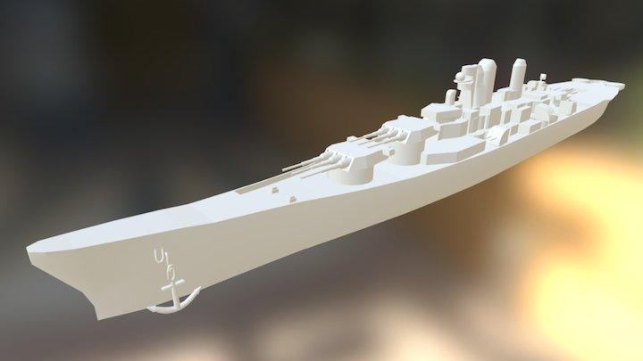 Battle Ship 3D Model