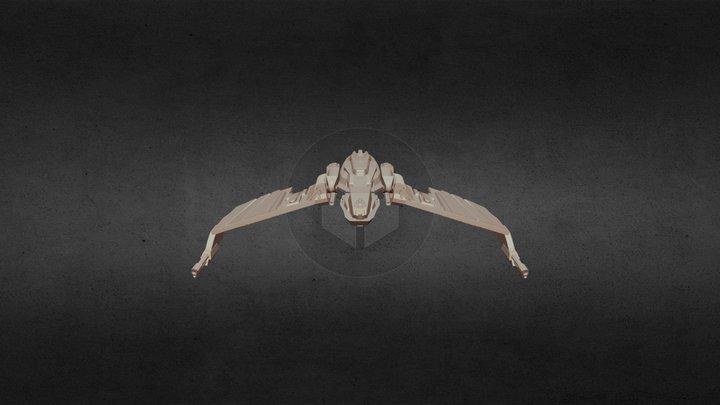 Klingon N'' Thak Class Battle Cruiser 3D Model