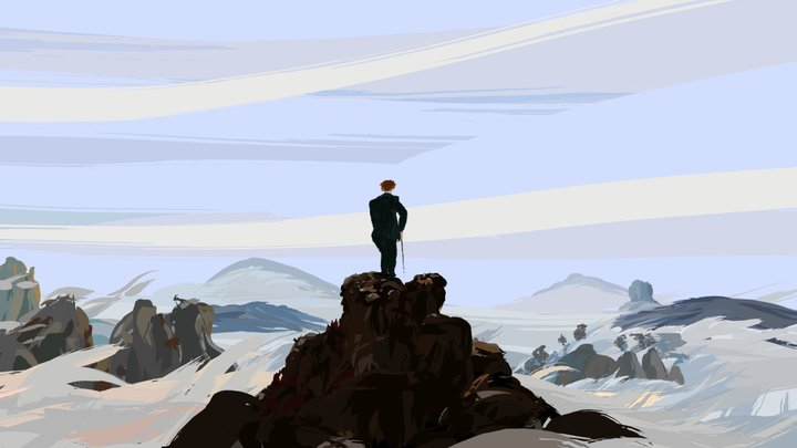 Wanderer above the sea of fog 3D Model