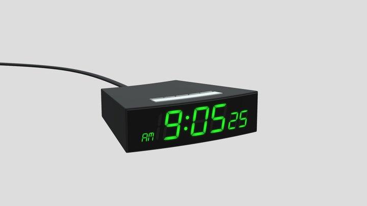 Digital Clock 3D Model