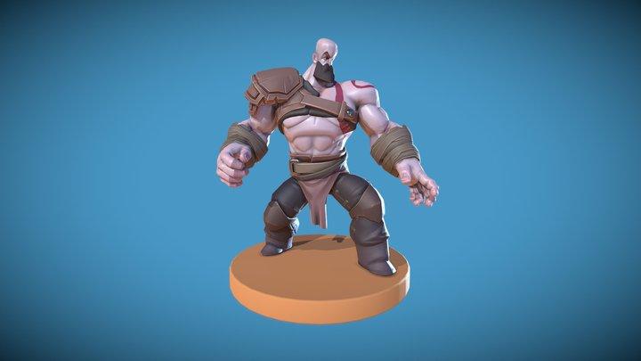 Kratos_Pose 3D Model