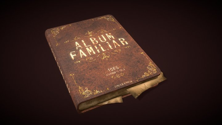 Old Book Prop [FREE] [LOW POLY] | Agustin Honnun 3D Model