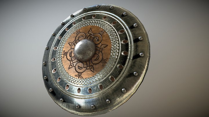 Viking shields fantasy weapons. Download Free. 3D Model