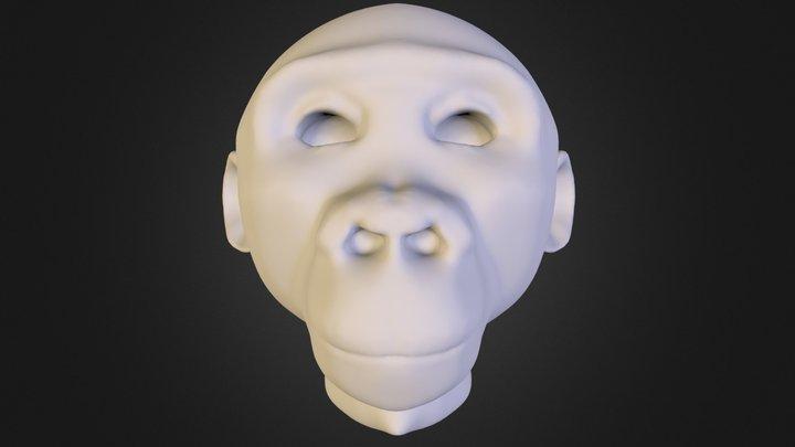 chimpanzee.obj 3D Model