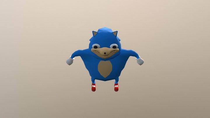 Ugandan Sonic 3D Model