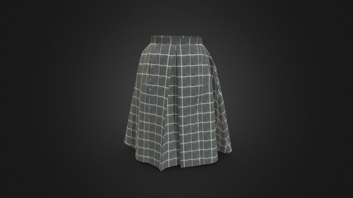 Women flared skirt 3D Model
